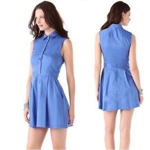 Theory Soreda Blue Shirtdress